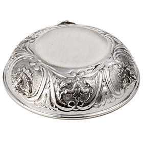 Bowl Paten in silver 800 with angel decoration s5