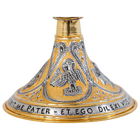 Brass chalice ciborium paten Crucifixion Last Supper Evangelists silver cup s6