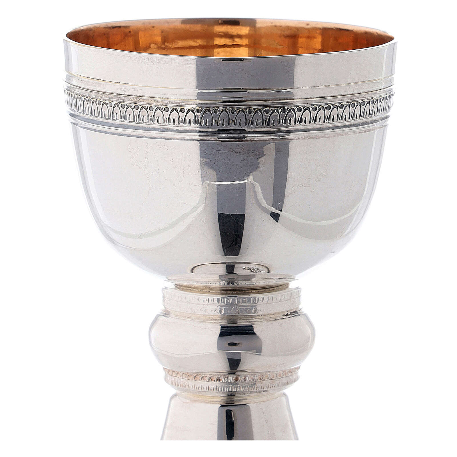 Byzantine chalice in two-tone brass, for travel Bethlehem Monastery 4