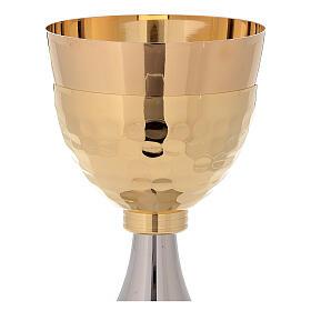 Pareja cáliz y copón bicolor de latón dorado 24k s3