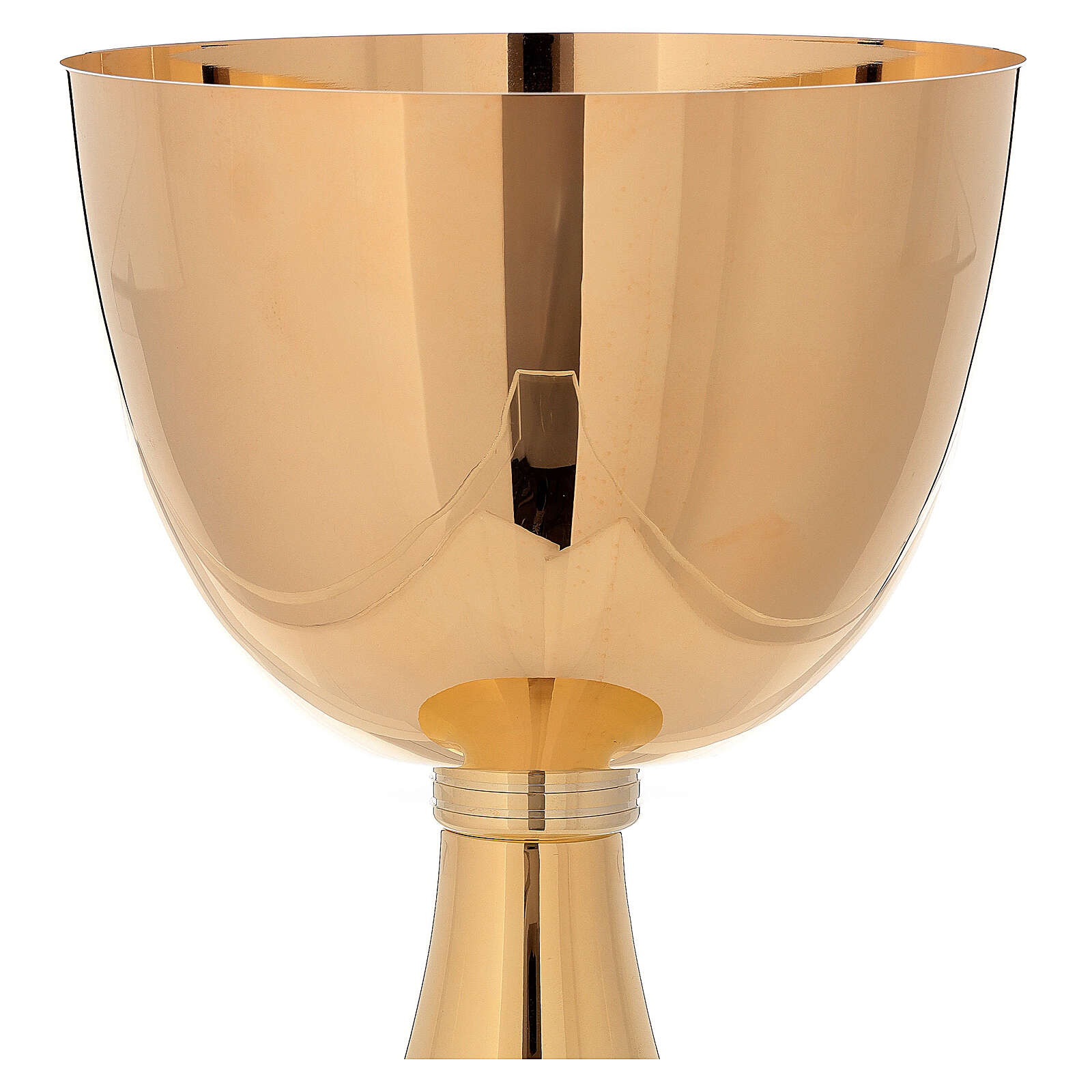 Chalice Concelebration 750 ml 24-karat gold plated brass simple base 4