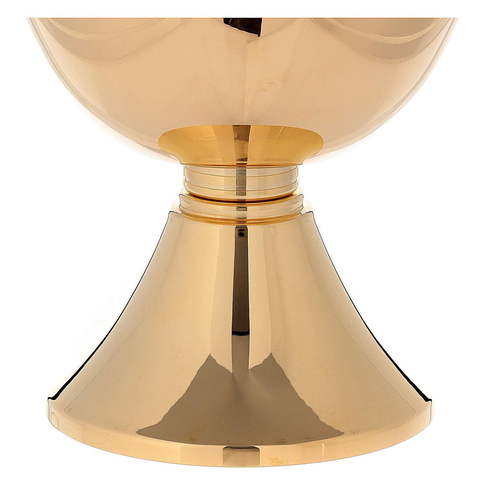 Cáliz concelebración latón dorado 24 k base simple 750 ml 4