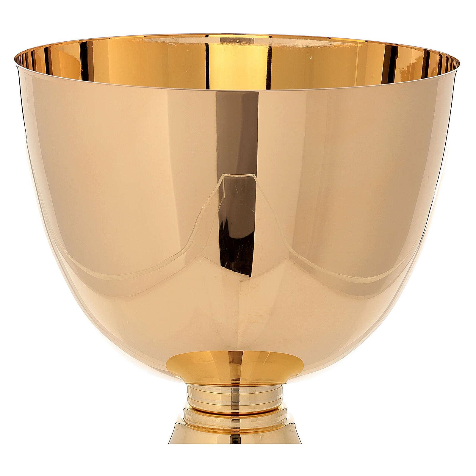 Calice Concelebrazione ottone dorato 24 k base semplice 750 ml 4