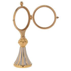 Concelebrating host monstrance 24-karat gold plated brass cast base s4