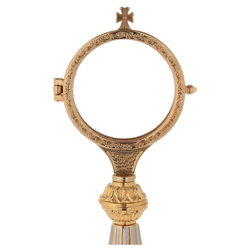 Concelebrating host monstrance 24-karat gold plated brass cast base 2