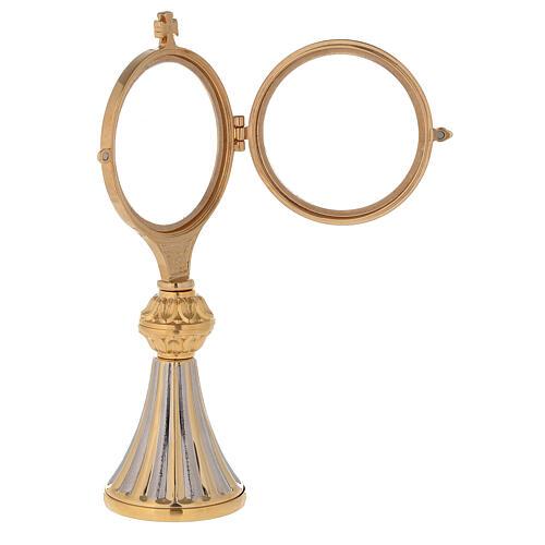 Concelebrating host monstrance 24-karat gold plated brass cast base 4