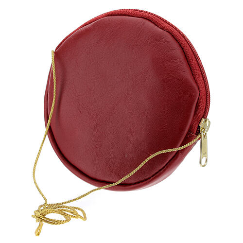 Paten case in real red leather monogram Christ gold 12 cm 2