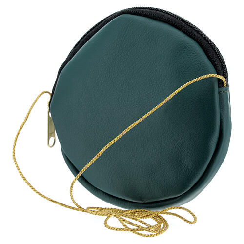 Paten case in real green leather monogram Christ gold 12 cm 2