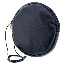 Blue leather paten burse golden Chi-Rho 5 in s2