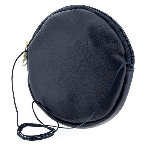 Blue leather paten burse golden Chi-Rho 5 in 2