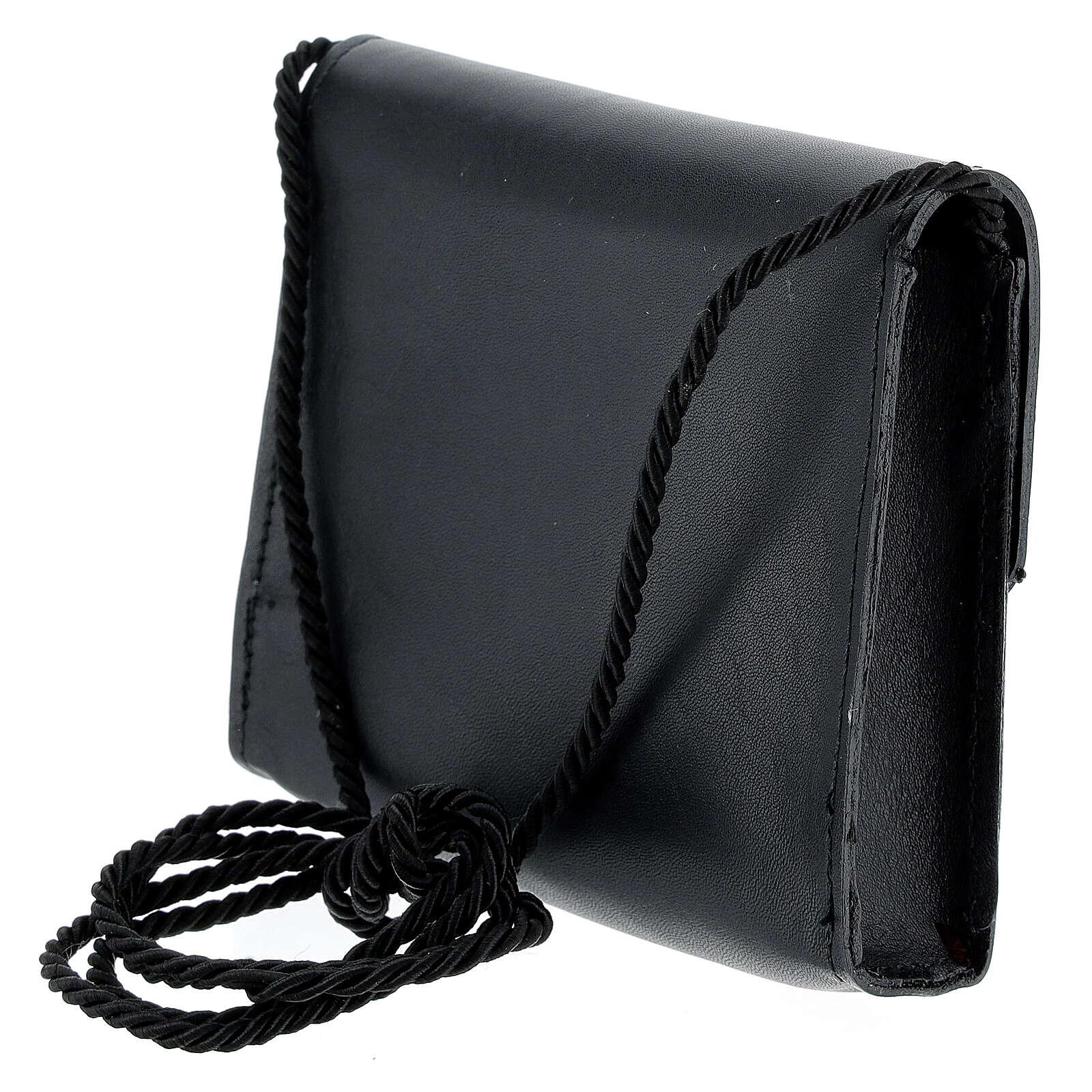 Paten bag 10x12 cm in black leather 4