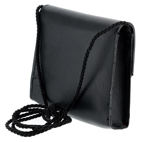 Paten bag 10x12 cm in black leather 2