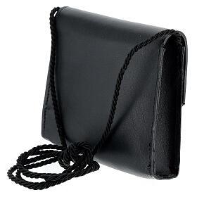 Paten burse 4x5 in real black leather s2