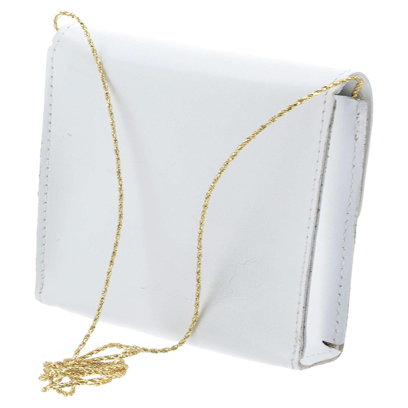 Paten bag 10x12 cm in white leather 4