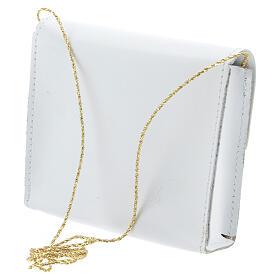Paten bag 10x12 cm in white leather s2
