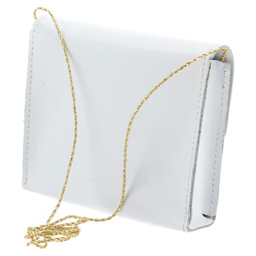 Paten bag 10x12 cm in white leather 2