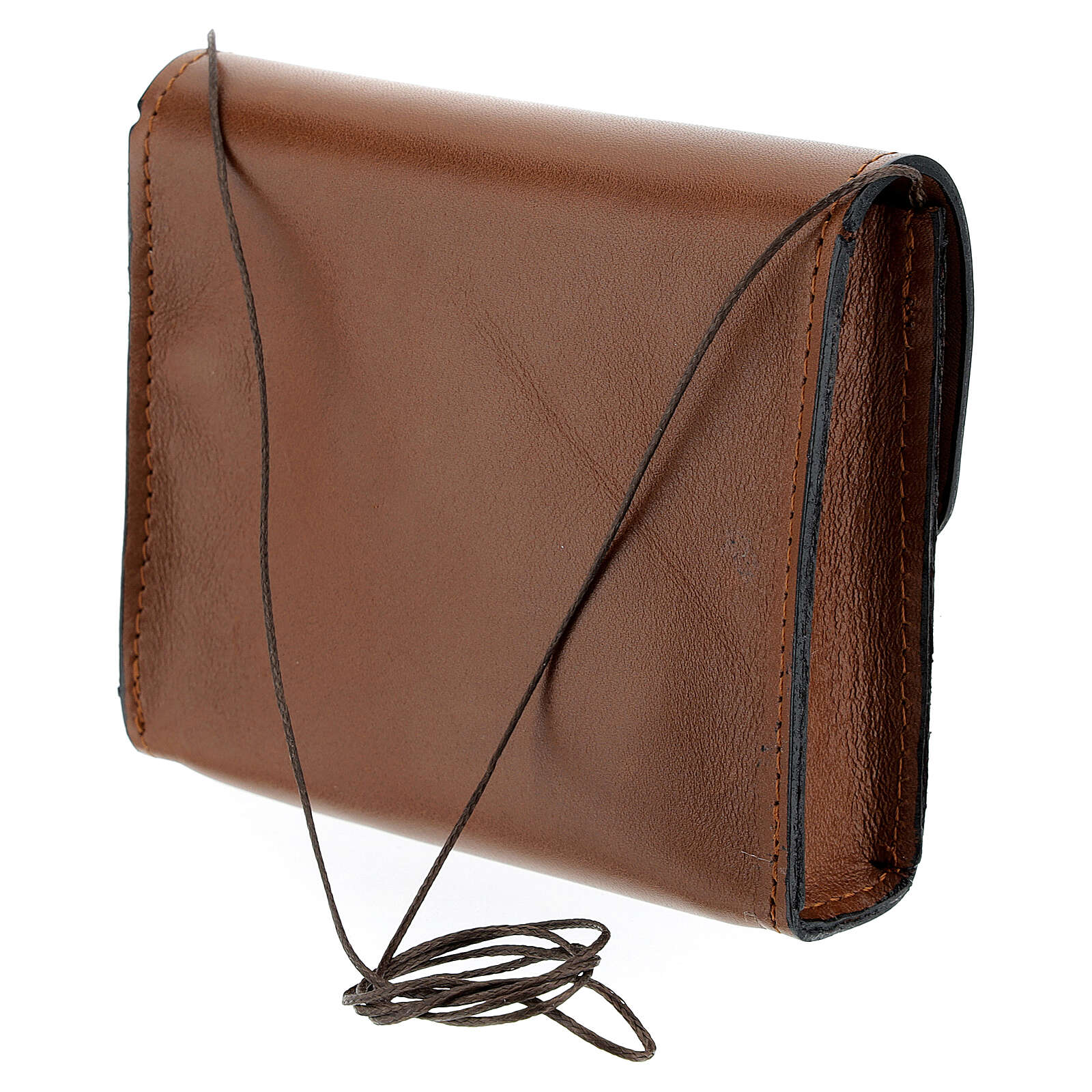 Paten bag 10x12 cm in brown leather 4