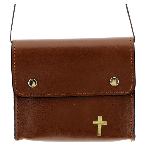 Paten bag 10x12 cm in brown leather 1