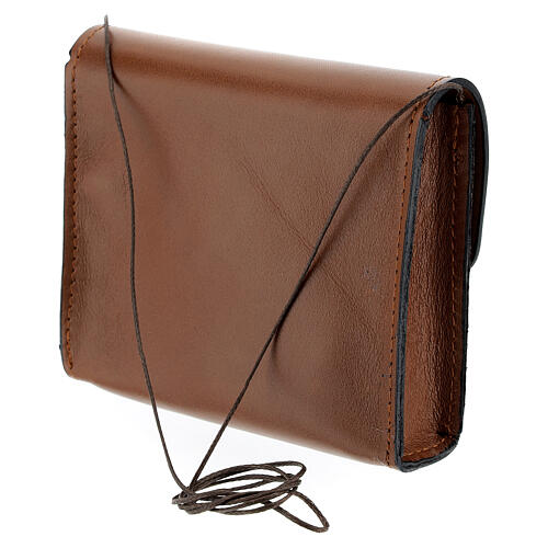 Paten bag 10x12 cm in brown leather 2