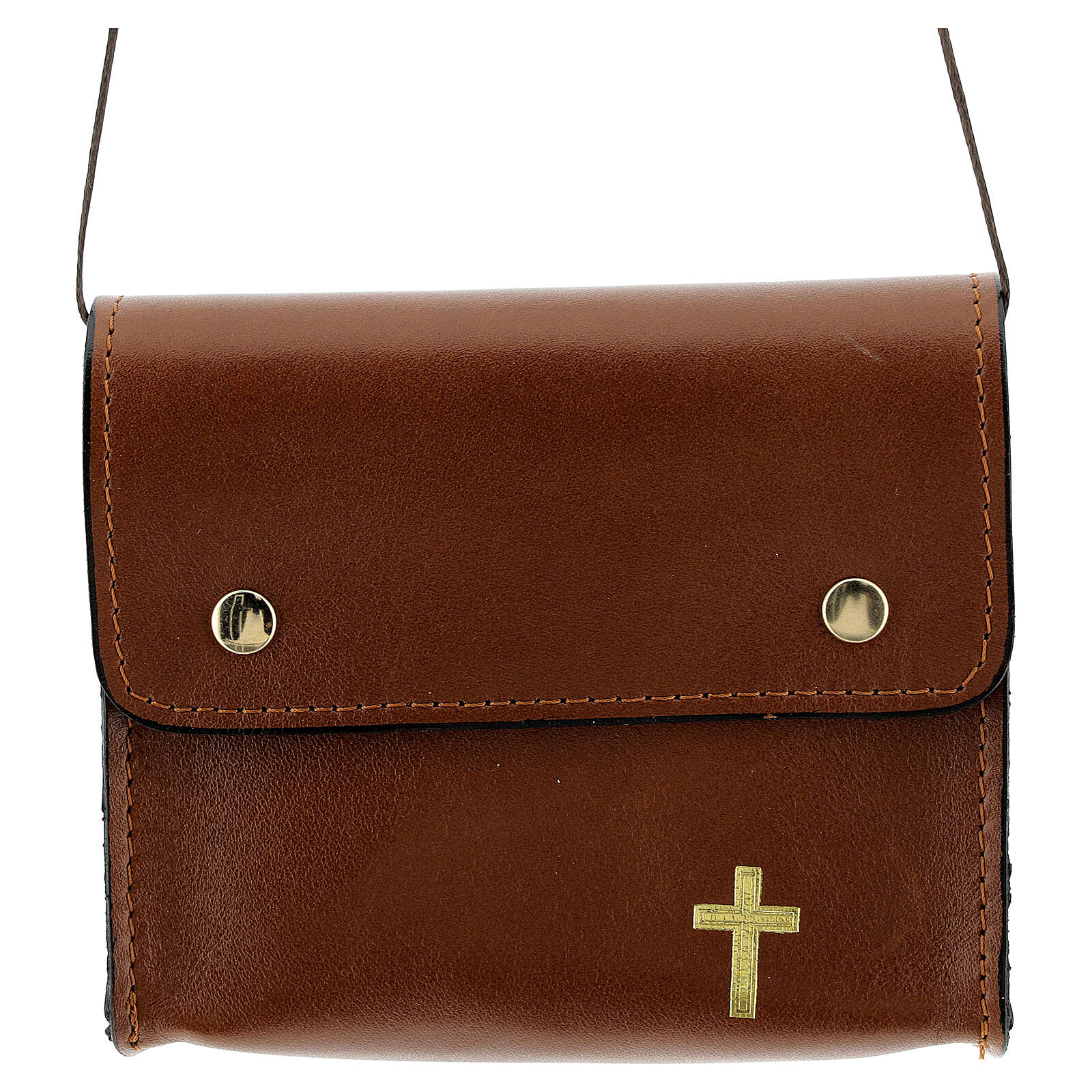 Paten burse 4x5 in real brown leather 4