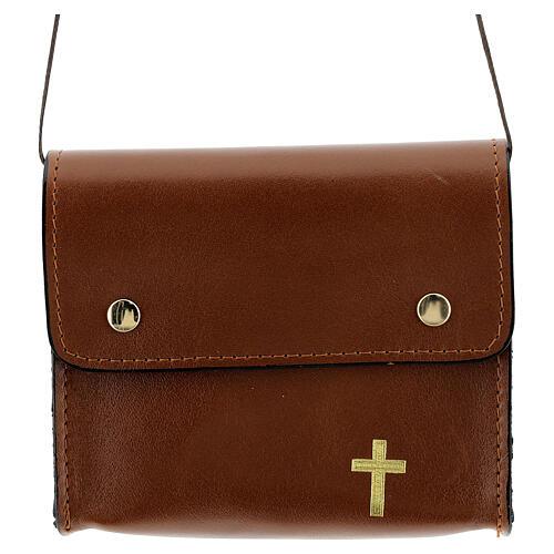Paten burse 4x5 in real brown leather 1