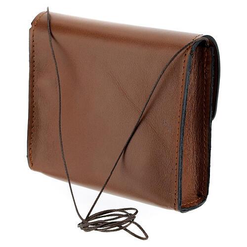 Paten burse 4x5 in real brown leather 2