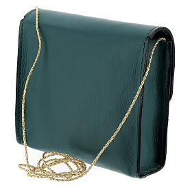 Paten bag 10x12 cm in green leather s2