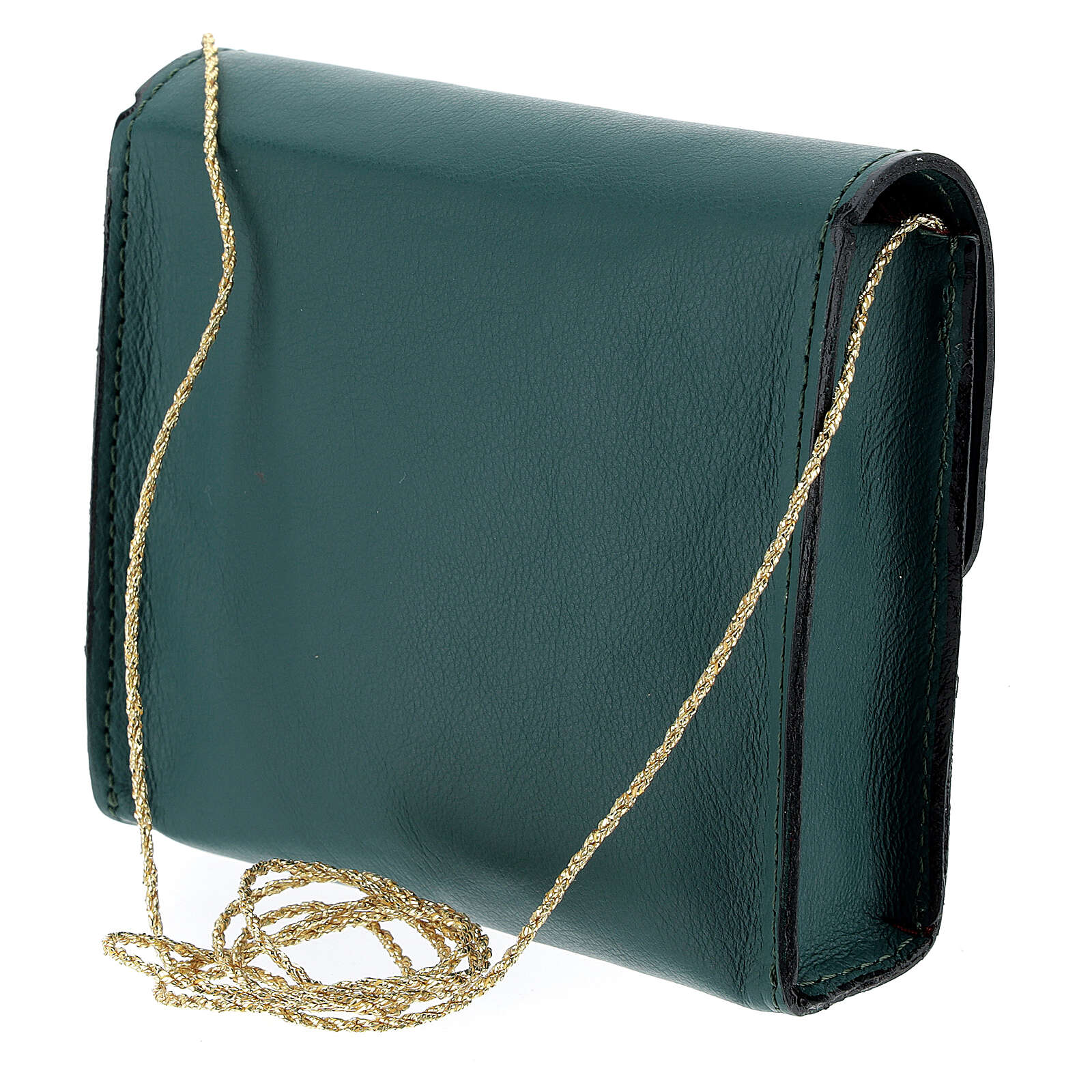 Paten burse 4x5 in real green leather 4