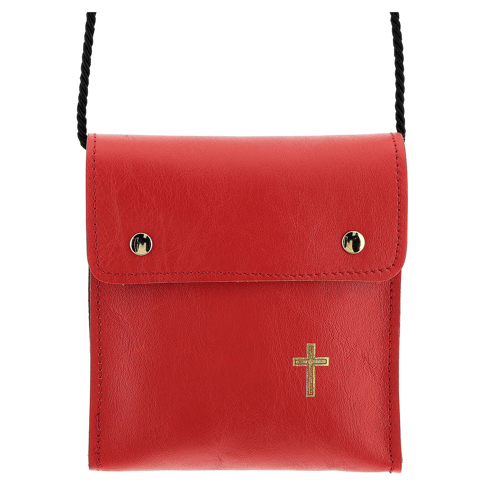 Rectangular paten bag 13x12cm red leather 4