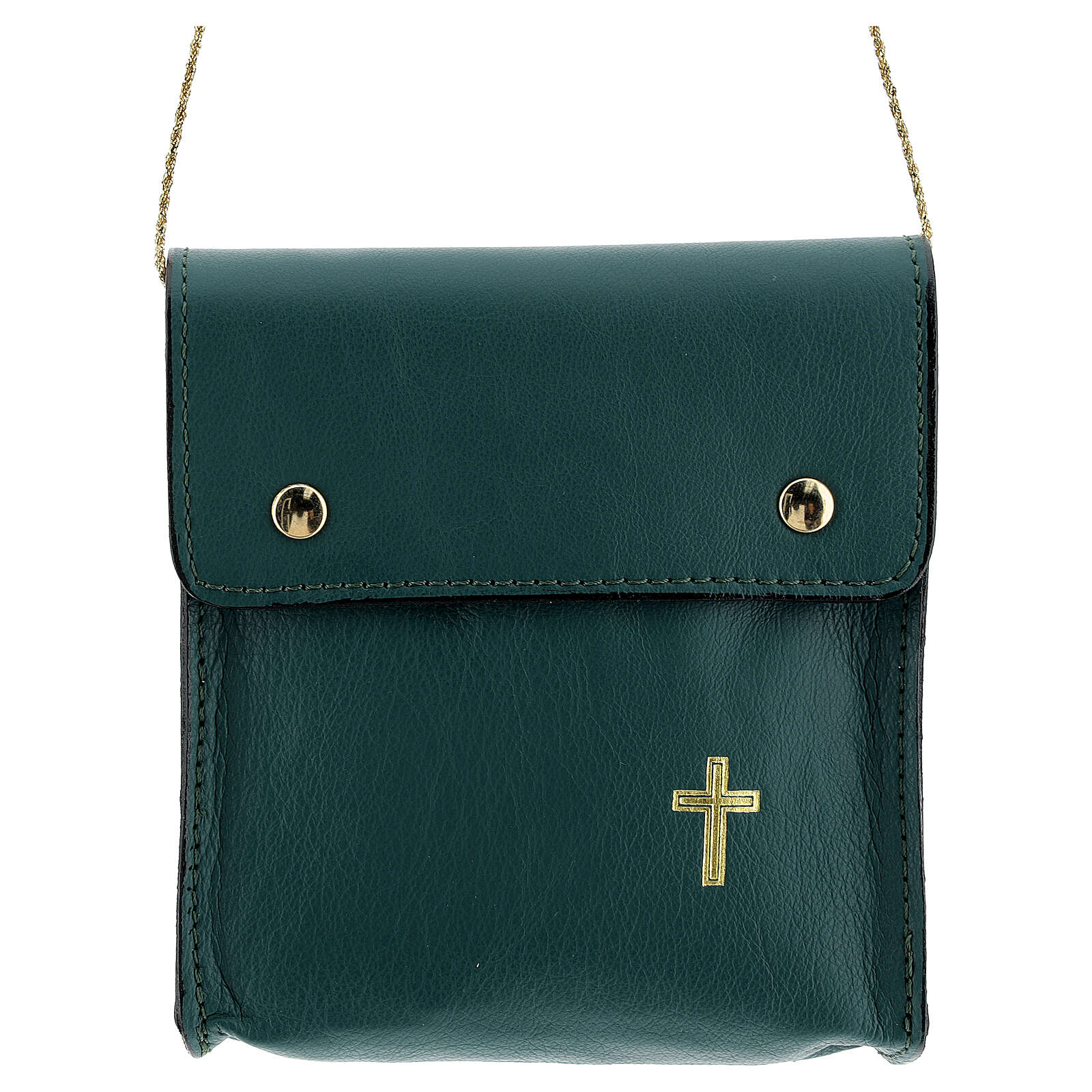 Rectangular paten burse 5x4 1/2 in real green leather 4