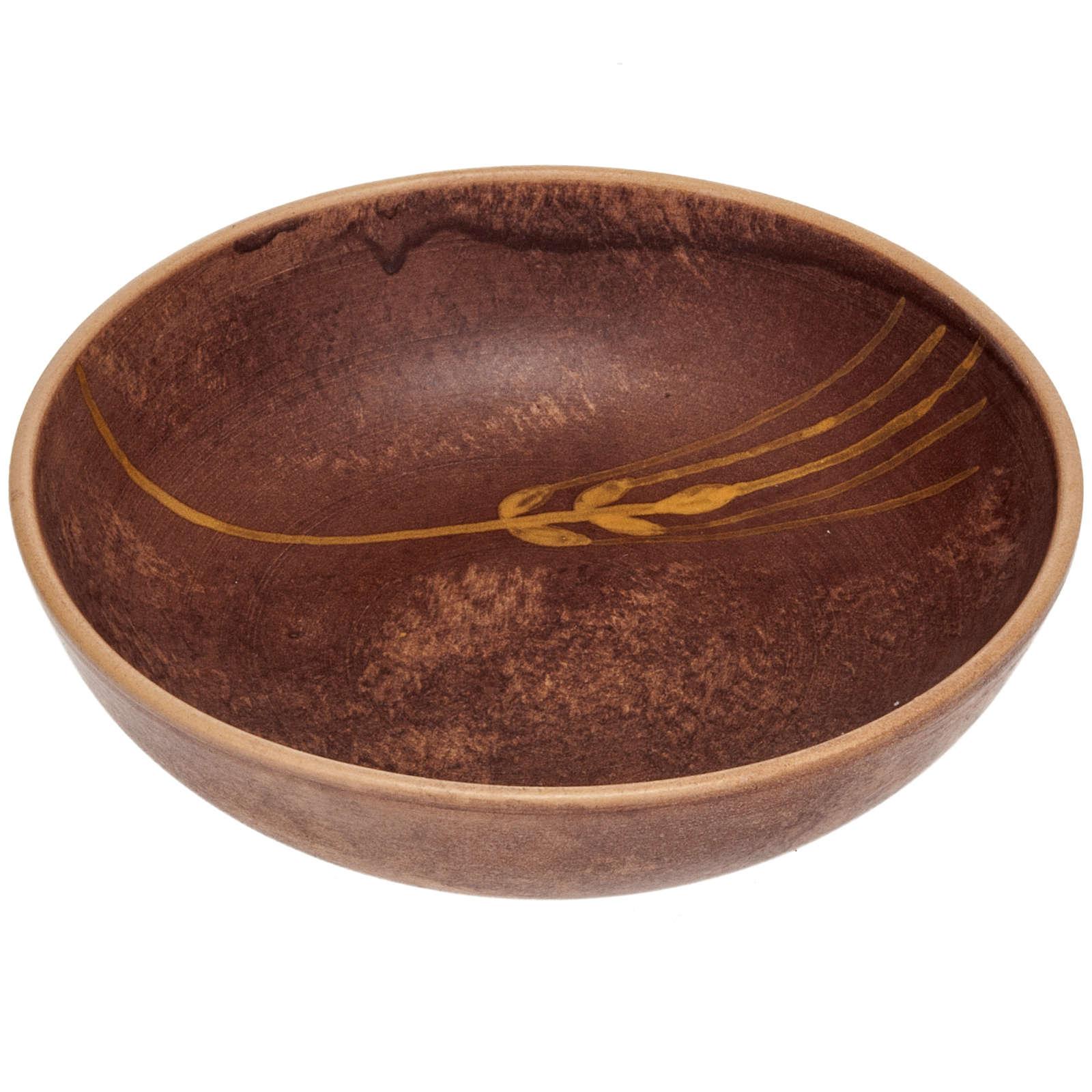 Patène en céramique cuir, 16 cm 4