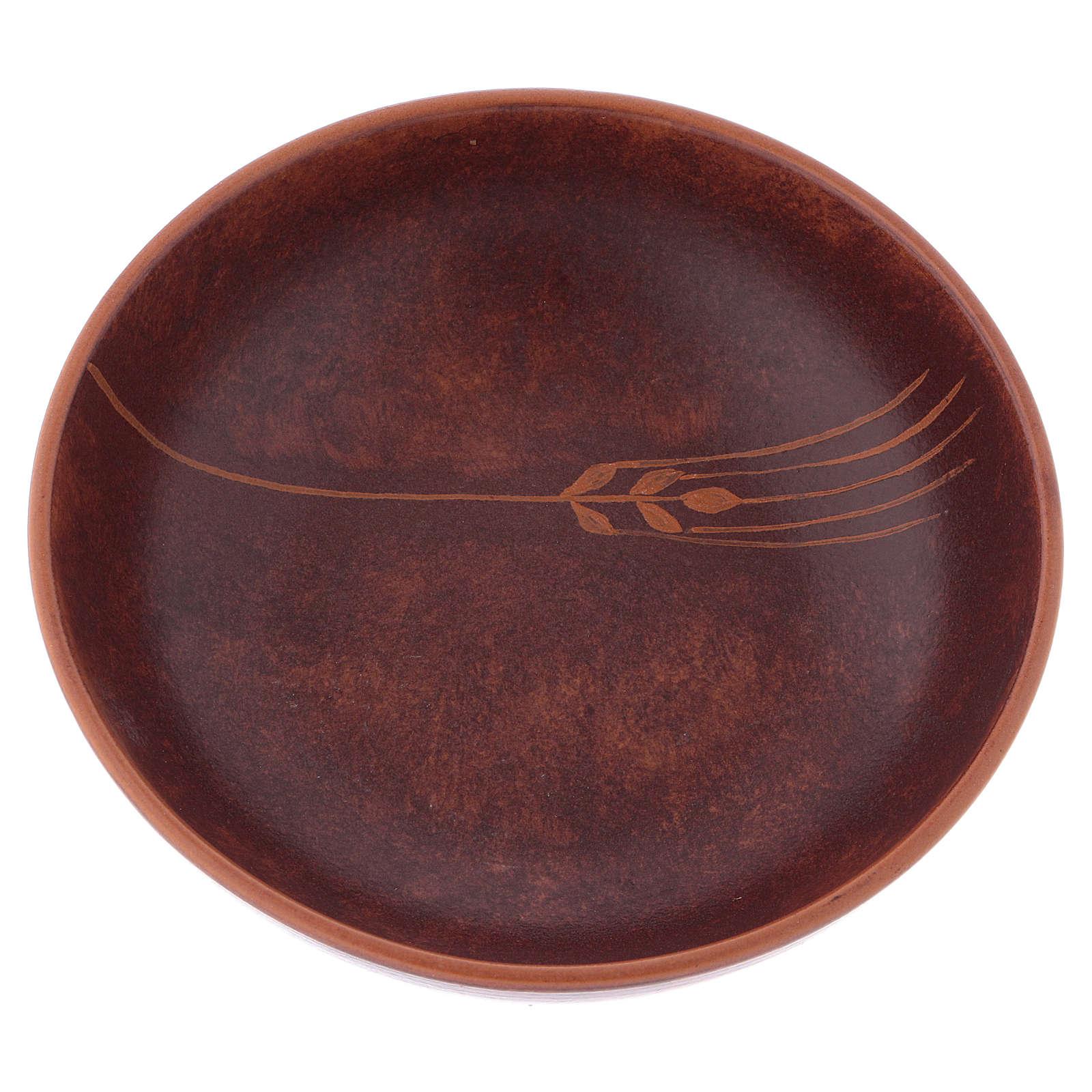 Patena ceramica diam 16 cm cuoio 4
