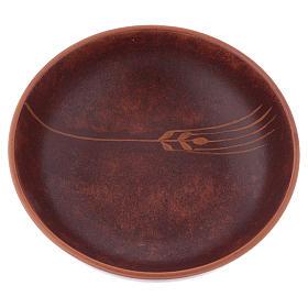 Patena ceramica diam 16 cm cuoio s2