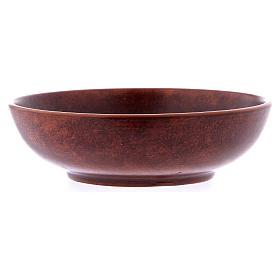 Patena ceramica diam 16 cm cuoio s3