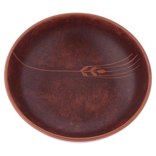 Patena ceramica diam 16 cm cuoio 2