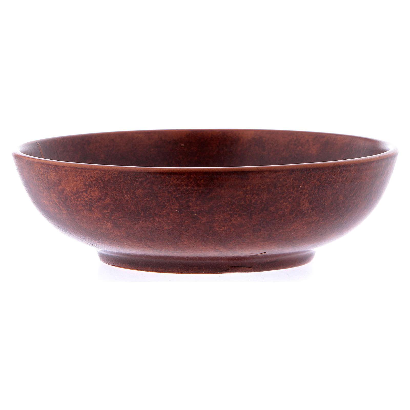 Ceramic paten 16 cm, leather color 4
