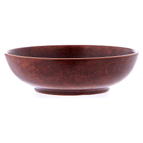 Ceramic paten 16 cm, leather color s3
