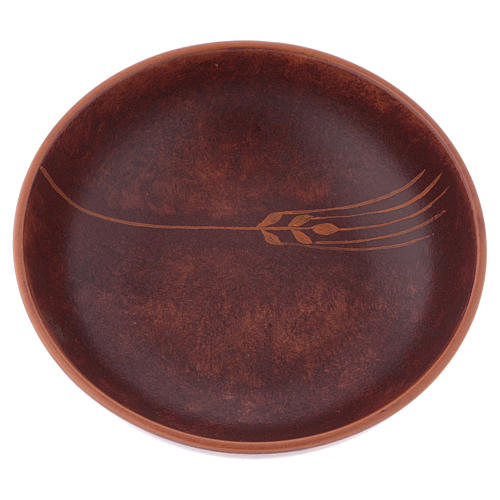 Ceramic paten 16 cm, leather color 2