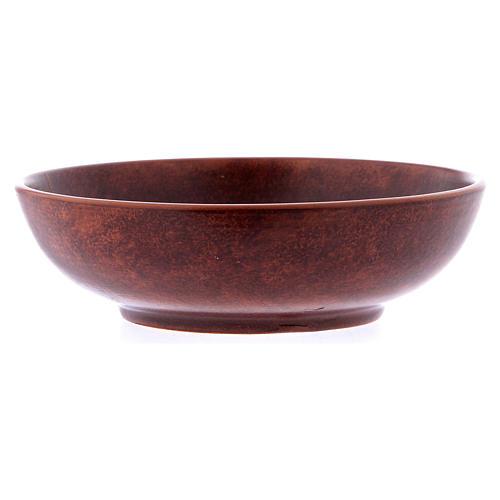 Ceramic paten 16 cm, leather color 3