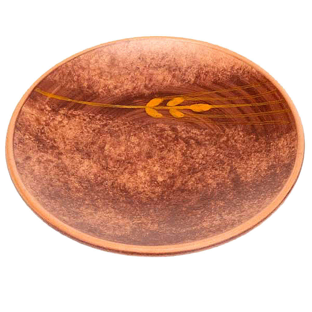 Ceramic plate, Leather color 4
