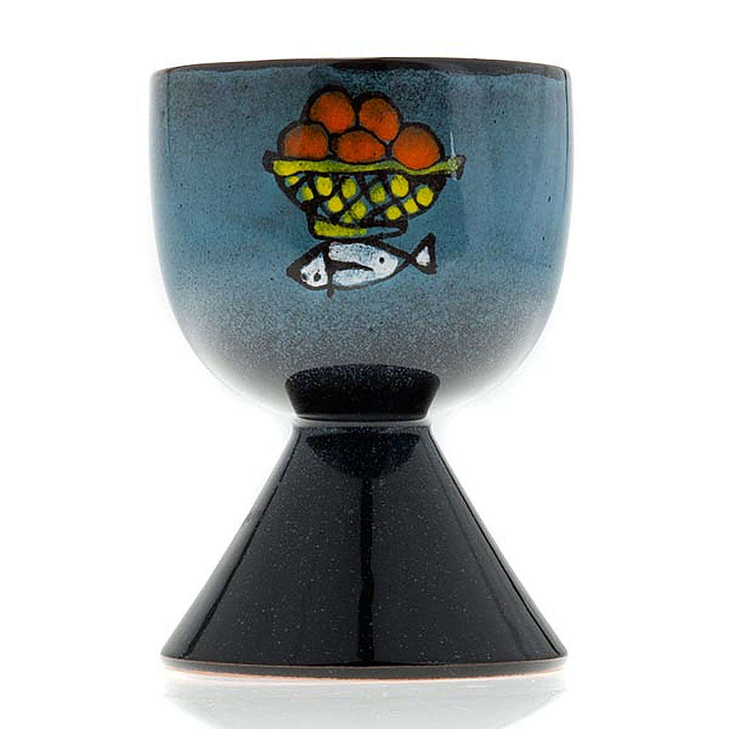 Ceramic chalice with conical base 4