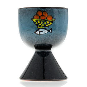 Ceramic chalice with conical base s2