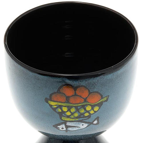 Cáliz cerámica pie cónico 3