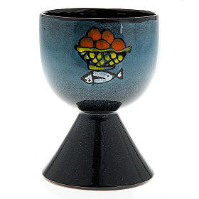 Ceramic chalice with conical base s1