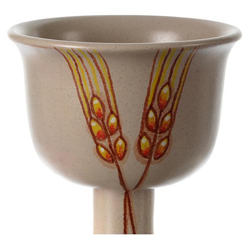 Cáliz cerámica espigas 2