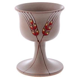 Kielich ceramiczny z motywem dekoracyjnym s6