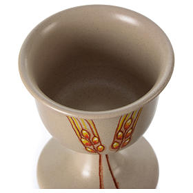 Kielich ceramiczny z motywem dekoracyjnym s4