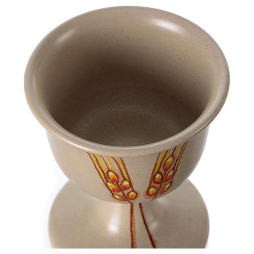Kielich ceramiczny z motywem dekoracyjnym 4