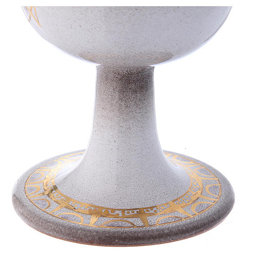 Cáliz perla oro cerámica 3