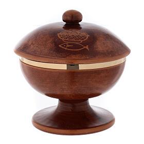 Pisside ceramica ottone dorato coperchio s1